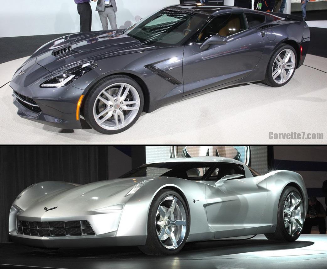 Visual Comparison of 2014 Corvette Stingray vs 2009 Concept Model