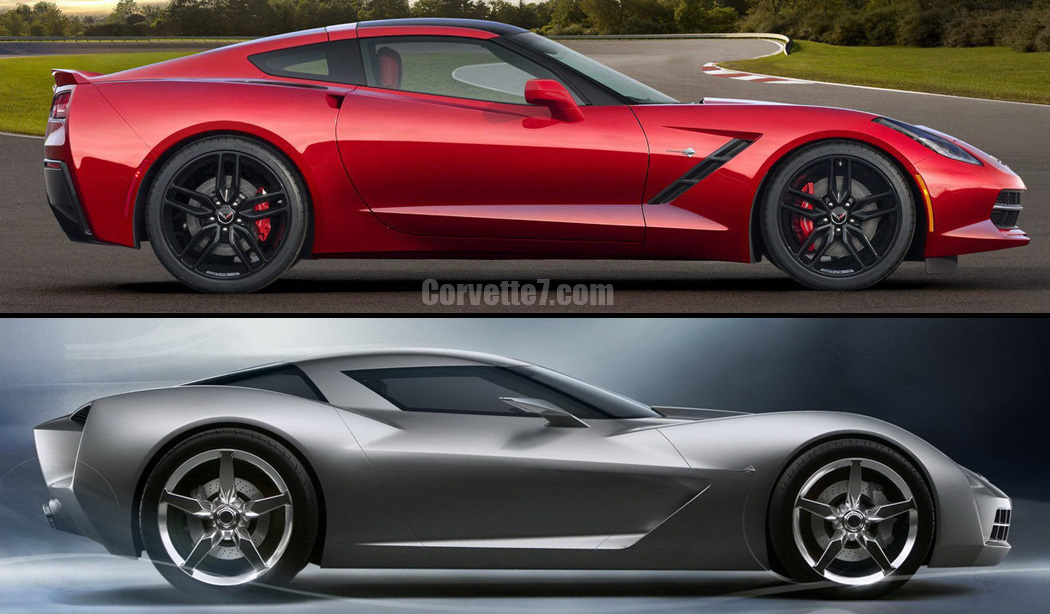 Visual Comparison Of 2014 Corvette Stingray Vs 2009 Concept Model