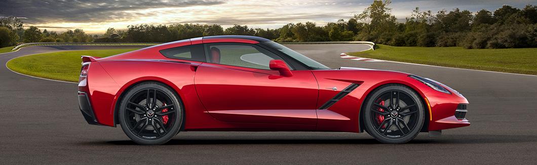 Crystal Red C7 Corvette
